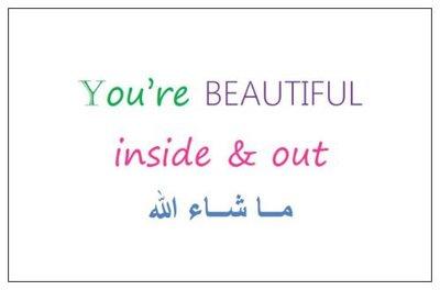 Geschenkkaartje 'beautiful'