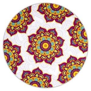 Mandala onderzetters set van 6 (fuchsia)