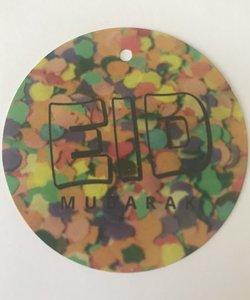 "Giftlabel ""Eid Mubarak"" confetti 6,5cm (per 5)"