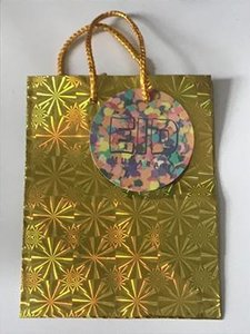 Geschenktasje goud Eid Mubarak