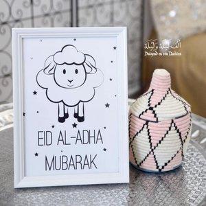 Witte kader Eid  Al Adha schaapje