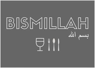 Poster keuken Bismillah
