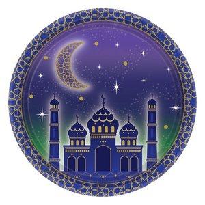 Set van 8 kartonnen bordjes Ramadan/Eid