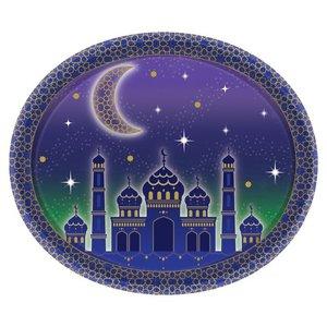 Set van 8 kartonnen serveerschalen Ramadan/Eid