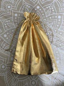 Geschenkzakjes metalic goud 20x14cm (10 zakjes)