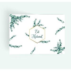 Set van 6 papieren placemats 'Eucalyptus'