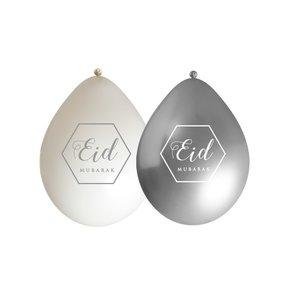 Eid ballonnen wit/zilver (10 stuks)