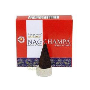 Golden Nag Champa wierookkegels Vijayshree®