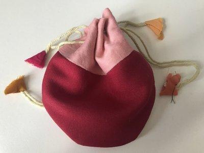 Juwelen buideltje red pink