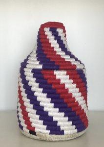 Berber mandje naturel paars rood