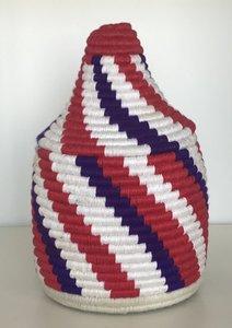 Berber mandje naturel paars rood 2