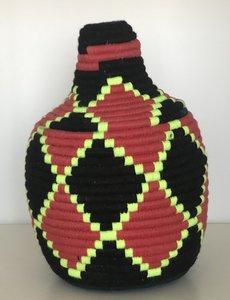 Berber mandje zwart geel rood