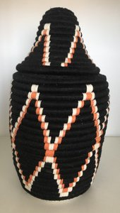 Berber mand zwart naturel oranje