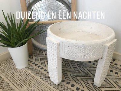 Houten chakki tafeltje (wit)