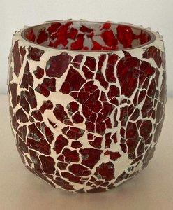 Kaarshouder India mozaiek rood