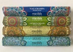 Mandala wierookstokjes set van 4 doosjes