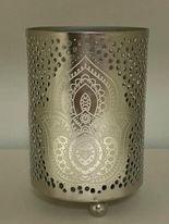 Kaarshouder India lotus zilver