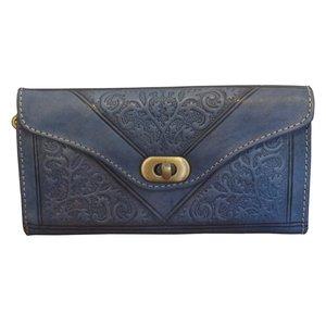 Clutch/portemonnee drieluik Fez 'blauw'