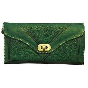 Clutch/portemonnee drieluik Fez 'groen'