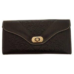 Clutch/portemonnee drieluik Fez 'zwart'