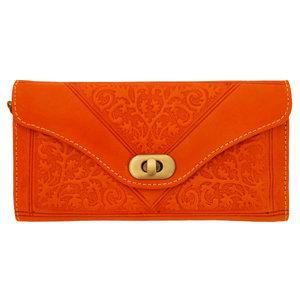 Clutch/portemonnee drieluik Fez 'oranje'