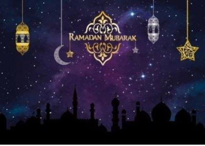 Placemats Ramadan paars/goud (set van 6)