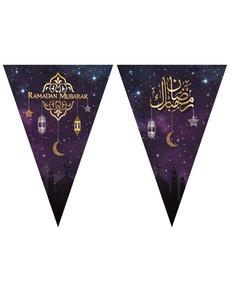 Slinger Ramadan Mubarak paars