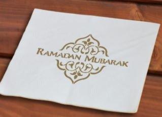 Papieren servetten Ramadan Mubarak (50 stuks)