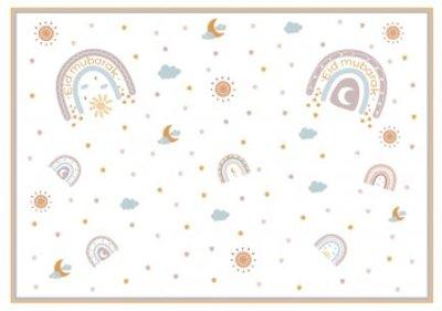 Set van 6 papieren placemats 'Rainbow'