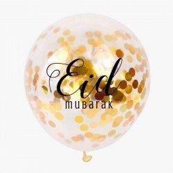 Eid ballonnen Confetti goud (5 stuks)