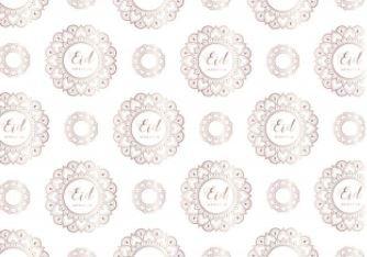 Set van 6 papieren placemats 'desert rose'