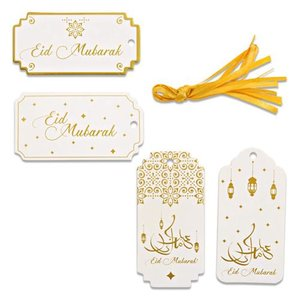"Giftlabels ""Eid Mubarak"" Goud (8 stuks)"