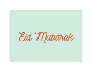 Wenskaart Eid Mubarak mint
