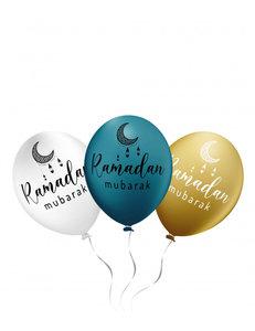 Ramadan Mubarak ballonnen (6 stuks)