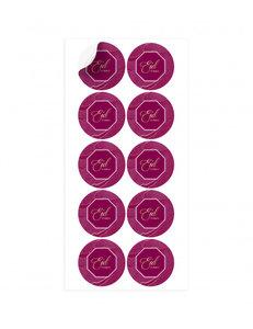 Stickers Eid Mubarak 'Bordeaux/Paars' 10 stuks