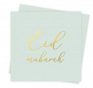 Papieren servetten Eid Mubarak 'Flowers' (10 stuks)