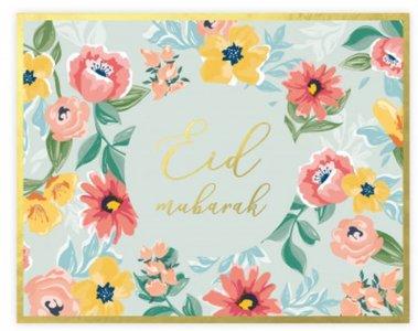 Set van 6 papieren placemats 'Flowers'