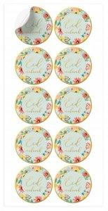 Stickers Eid Mubarak 'Flowers' 10 stuks