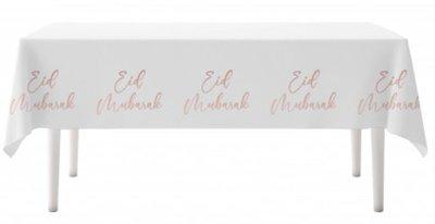 Tafelkleed Eid Mubarak 'Rosegold Flowers'