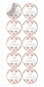 Stickers Eid Mubarak 'Rosegold Flowers' 10 stuks